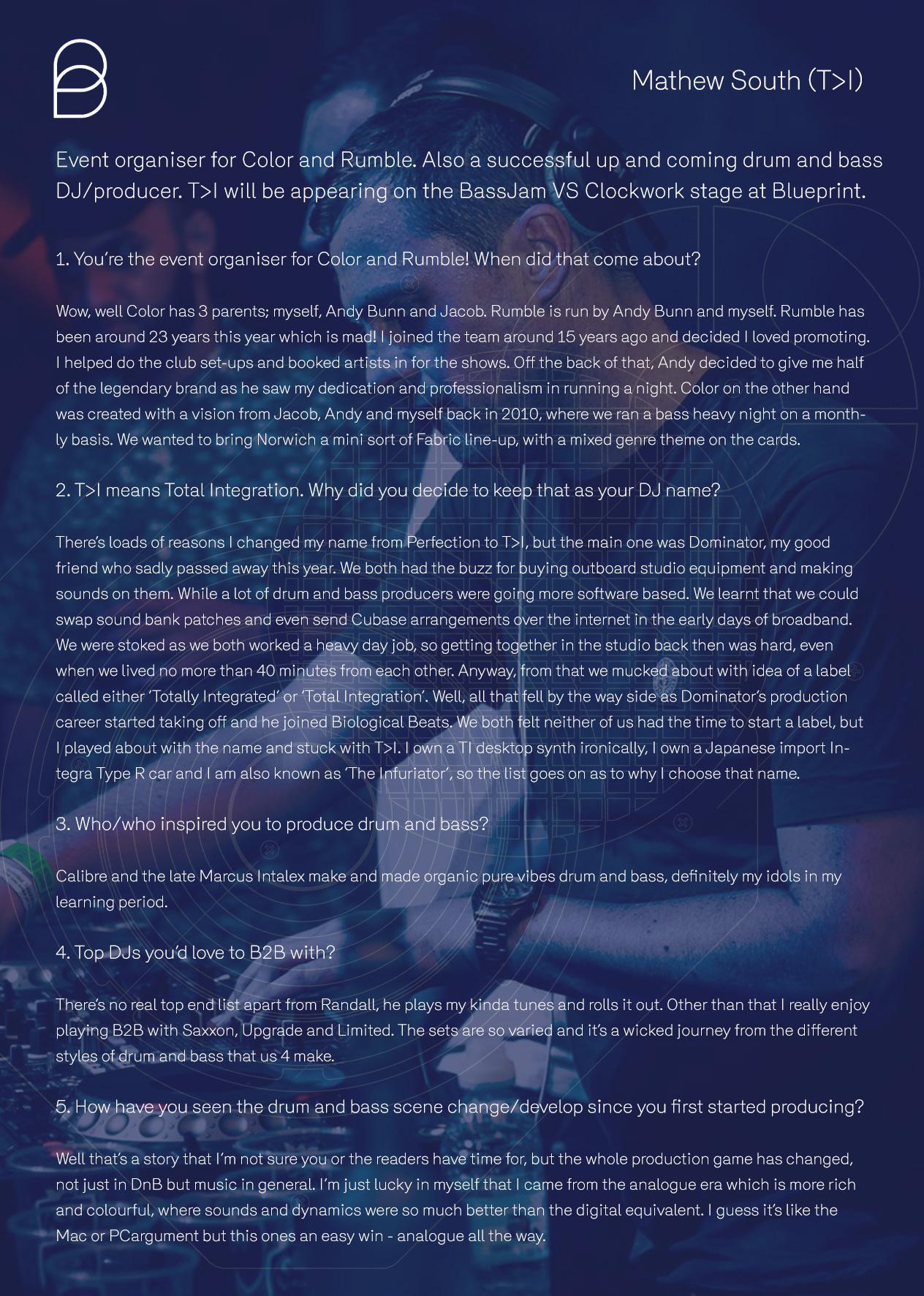 Blueprint festival 2017 read exclusive blueprint interviews below malvernweather Choice Image