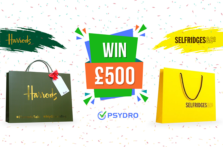 Win a £500.00 gift voucher to spend in Selfridges or Harrods