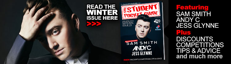 Winter-2015-Edition-OUT-NOW-Student-Pocket-Guide-Sam-Smith-Andy-C-Jess-Glynne