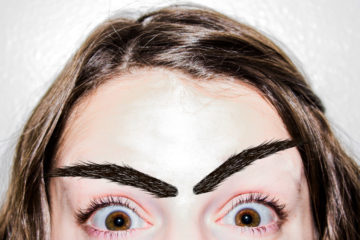 stick-on brows