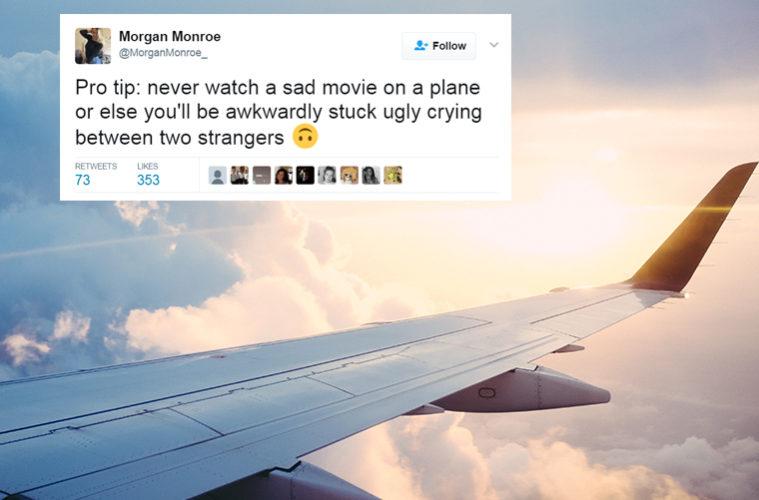 crying on plane