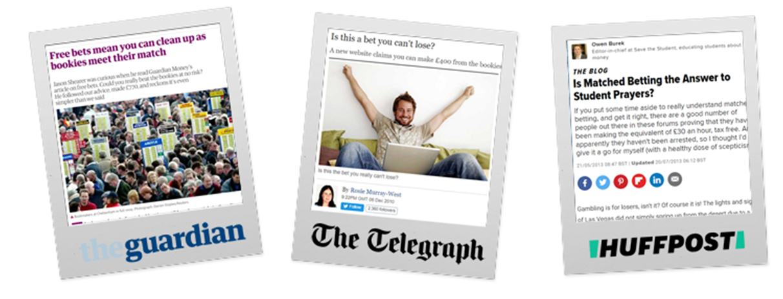 Guardian Telegraph Huffpost