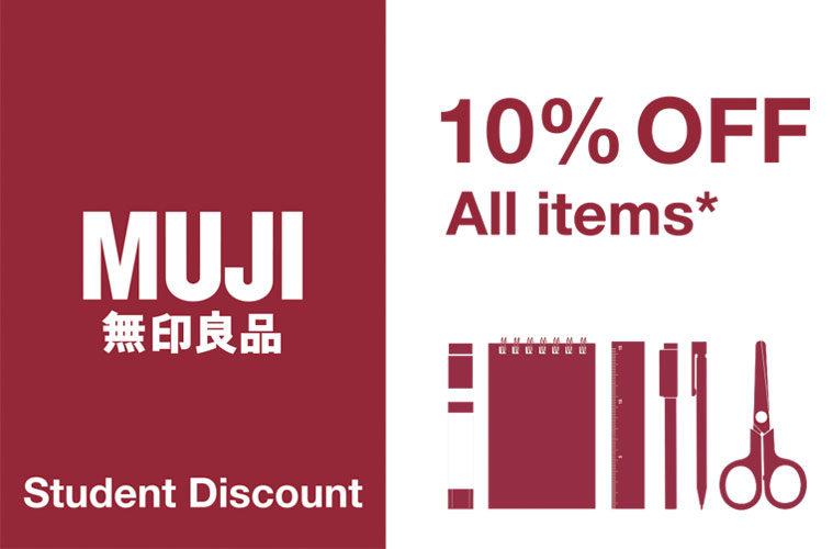 MUJI Student Discount