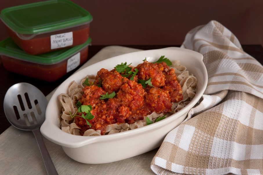 The Student Pocket Guide Pork Meatballs with Spicy Tomato Sauce Recipe