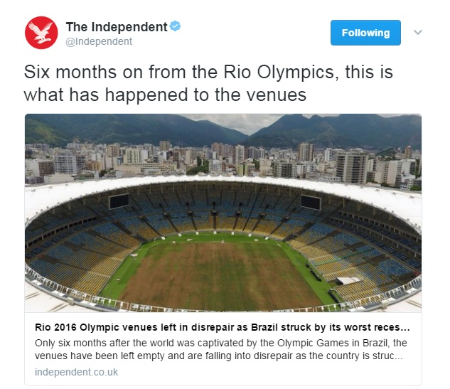 Rio 2016 Olympic Park Left To Rot