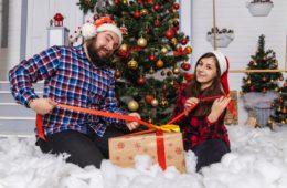 Family Members Celebrate Christmas