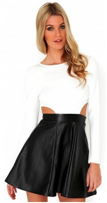 Missguided Leather Dress